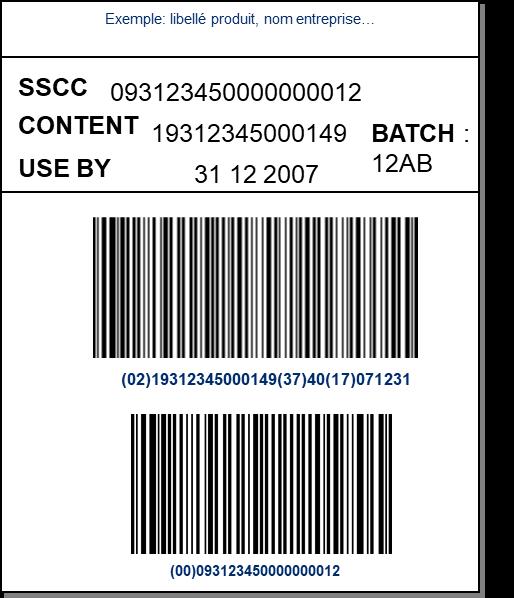 code barre gs1 128
