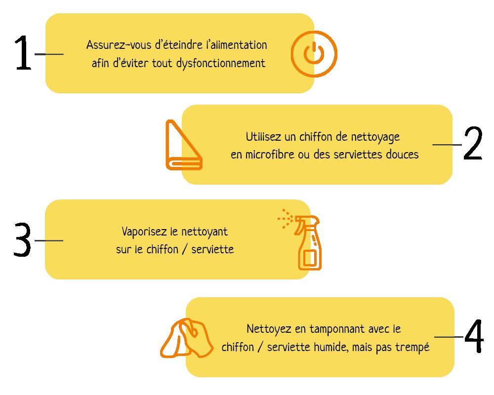 étapes nettoyage imprimante